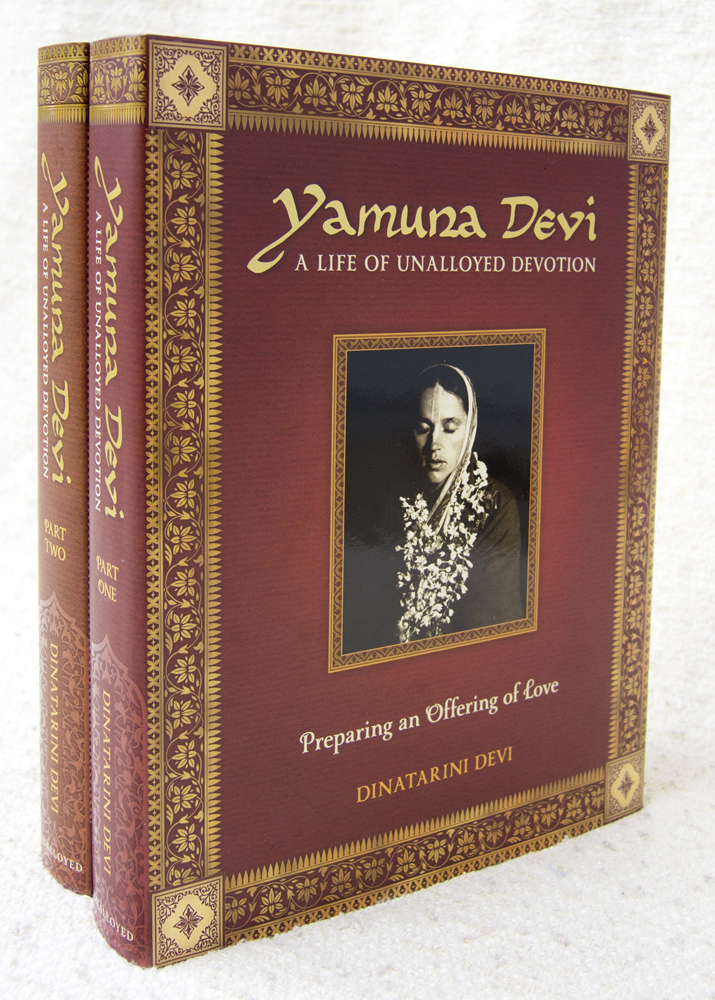 The printed sets. Yamuna Devi: A Life of Unalloyed Devotion, Parts 1 and 2